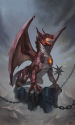 Red dragon concept by Ork-artist