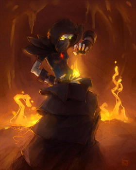 mistress of magma by AironMag