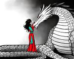 Terezi Pyrope and her Dragon by Fl33tingshadoW