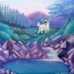 The White Stag of Azure Valley by StellarWind