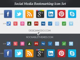 Sociality - Social Media Icon Set by ProRock
