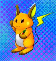 notched ear Raychu by Pand-ASS