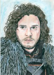 Jon Snow - Game of Thrones by kleopetra007