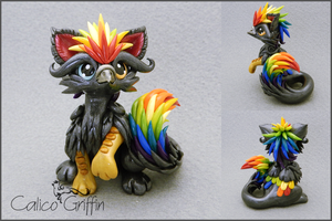Rico - polymer clay sculpture by CalicoGriffin