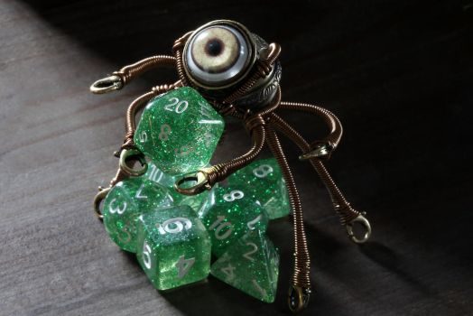 Steampunk octopus dice minion by CatherinetteRings