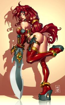 Battle Chasers: Red Monika by Markovah