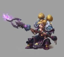 Gnome mage female by AntonZemskov
