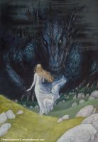 Nienor and Glaurung by EKukanova