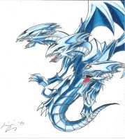 Blue Eyes Ultimate Dragon by RaineyReaper