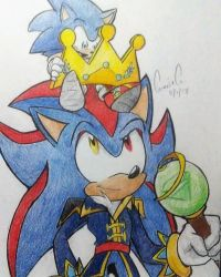 Kaze and Sonic by mooninescent