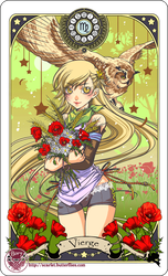 Astrology deck card: Virgo by Bory-Einfrost