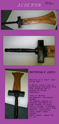 Acheron: Heavy Sword (made from a chair!) by Lord-Hayati