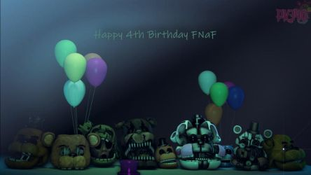 [SFM/FNaF] Four Years by PixelKirby340