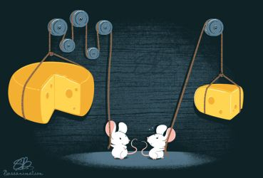 Pulley Mice by bassanimation