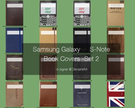 Custom Snote Book Covers - Set2 by d-signer