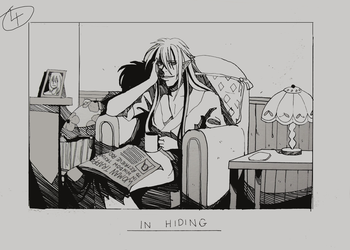 Day 4 - In hiding by Inui-Purrl