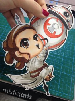 Rey and BB8 Paperchild by Mistiqarts
