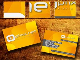 Optixx business cards by NiacinDes