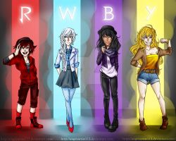 Team RWBY by AngryArtist113