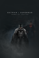 Batman v Superman - Dawn Of Justice poster by TLDesignn