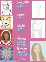 Commissions Sheet Updated by RavenRules829