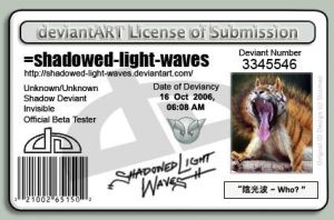 dA - License by shadowed-light-waves