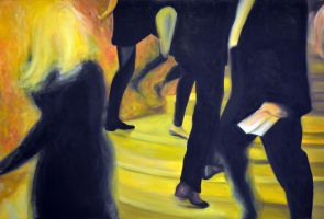 Always on the run, 2013, 120-80cm, oil on canvas by oanaunciuleanu
