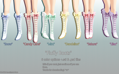 Fluffy Boots DL by 3DDestiny