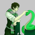 Harry+Nagini AU - In Slytherin by Rex--Magnus