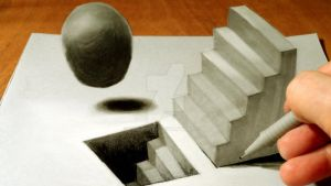 3D Drawing Staircase by VamosArt