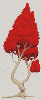 2017.09.14 - Red tree by Anmaril