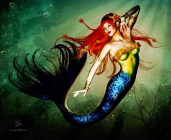 Mermaid Pinup by seanearley