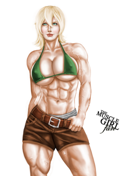 Mayumi The Cop (remastered) by The-Muscle-Girl-Fan