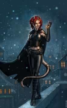Tiefling Thief by SirTiefling