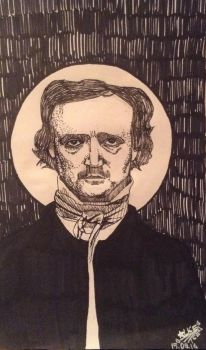 Edgar Allan Poe by Aliceice1lalala