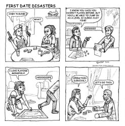 6 First Date Disasters by OurobourosAngel