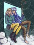 Jack Frost and Rika by MarieJaneWorks
