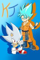 All Out Sonic and Goku (Hyper Blue Variant) by KuraiJinx