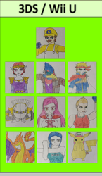 My SSB Main Team by Tabacookie