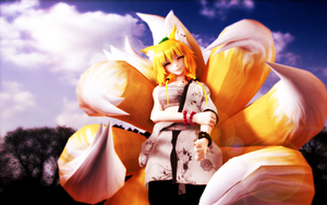 Smiling fox by RiStarr