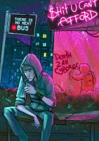Bus Stop. by cryoclaire