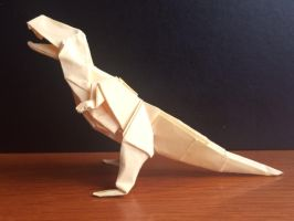 Origami T.rex by casielles