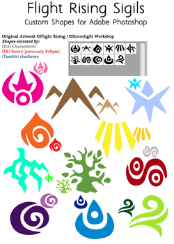 Flight Rising Element Sigil Custom Shapes by CheeseStorm