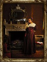 Portrait of a Lady at Home by Irse