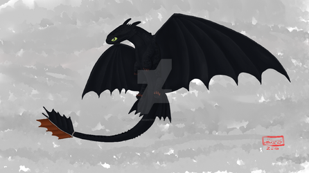 Toothless by MUS0-the-nightfury