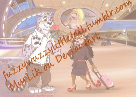 COMMISSION_Valentine's day_Zootopia_airport by MurLik