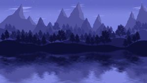 Landscape [5] - Mountain Lake by ncoll36