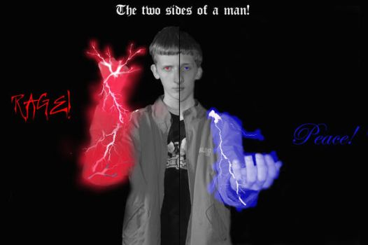 Two sides of a man by 14j