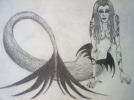 Tattooed Mermaid by LadyRavenhawk