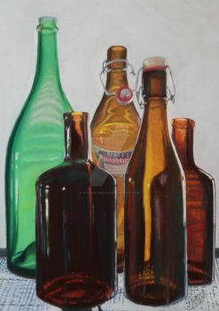 Backlit Bottles by YvonneJensen